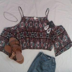 ⬆⬆💙Colorful hippie crop top💚⬆⬆